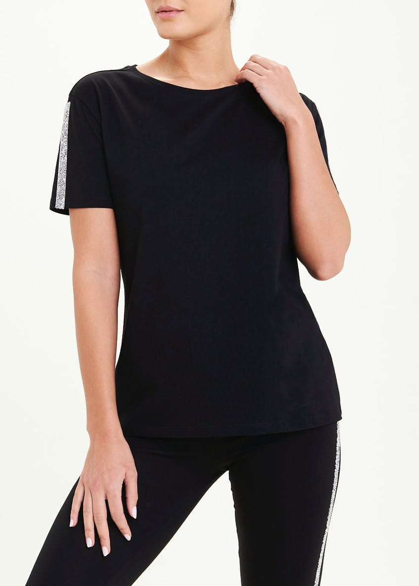 Sparkle Tape Sleeve Co-Ord T-Shirt