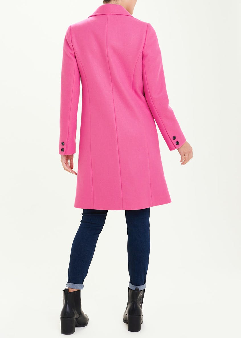 Pink Double Breasted Formal Coat