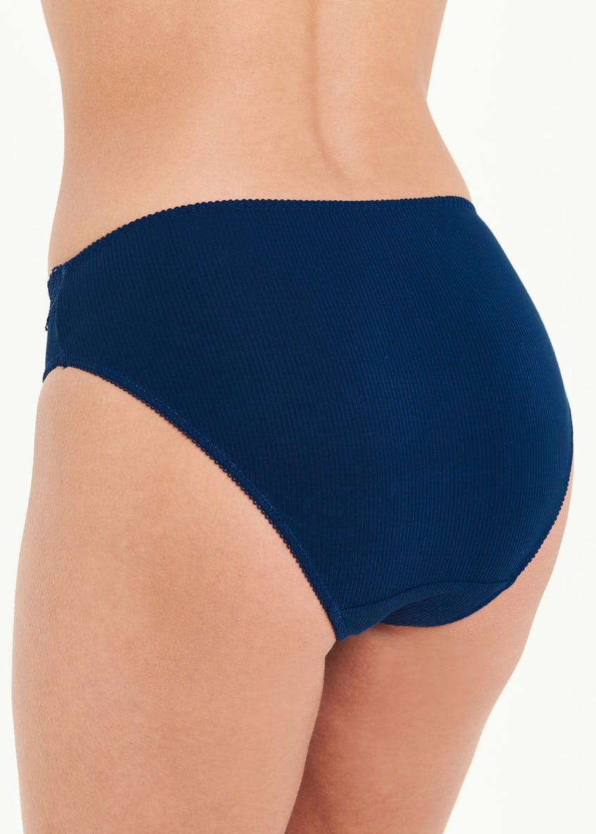 3 Pack High Leg Ribbed Knickers