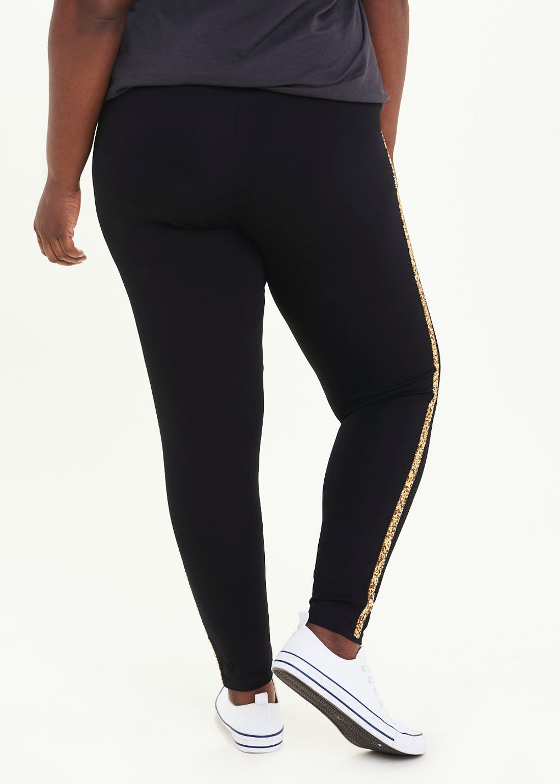 Papaya Curve Glitter Side Stripe Leggings