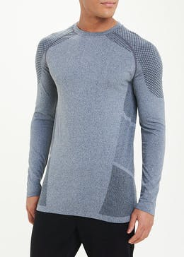 Souluxe Grey Seamless Long Sleeve Gym Top