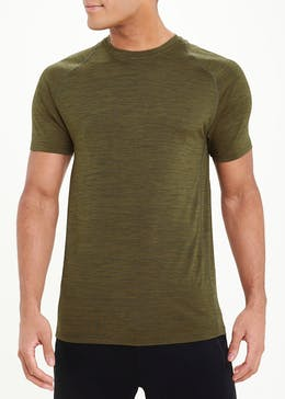 Souluxe Khaki Basic Gym T-Shirt