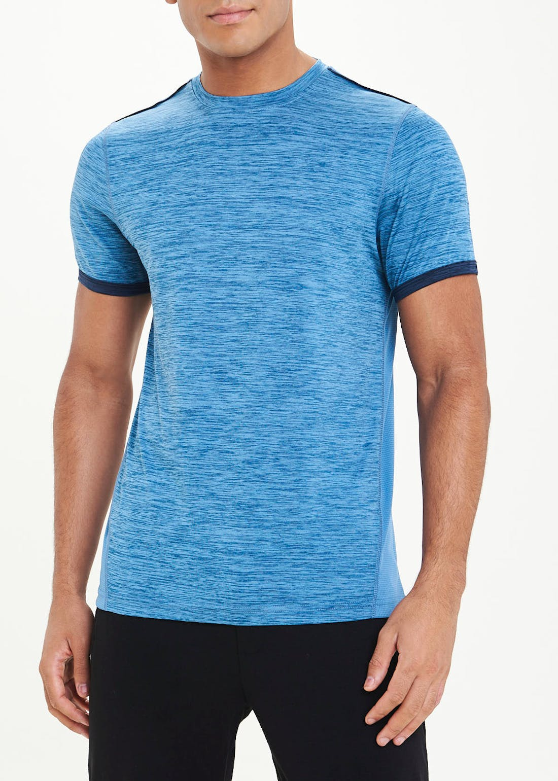 Souluxe Blue Tipped Gym T-Shirt