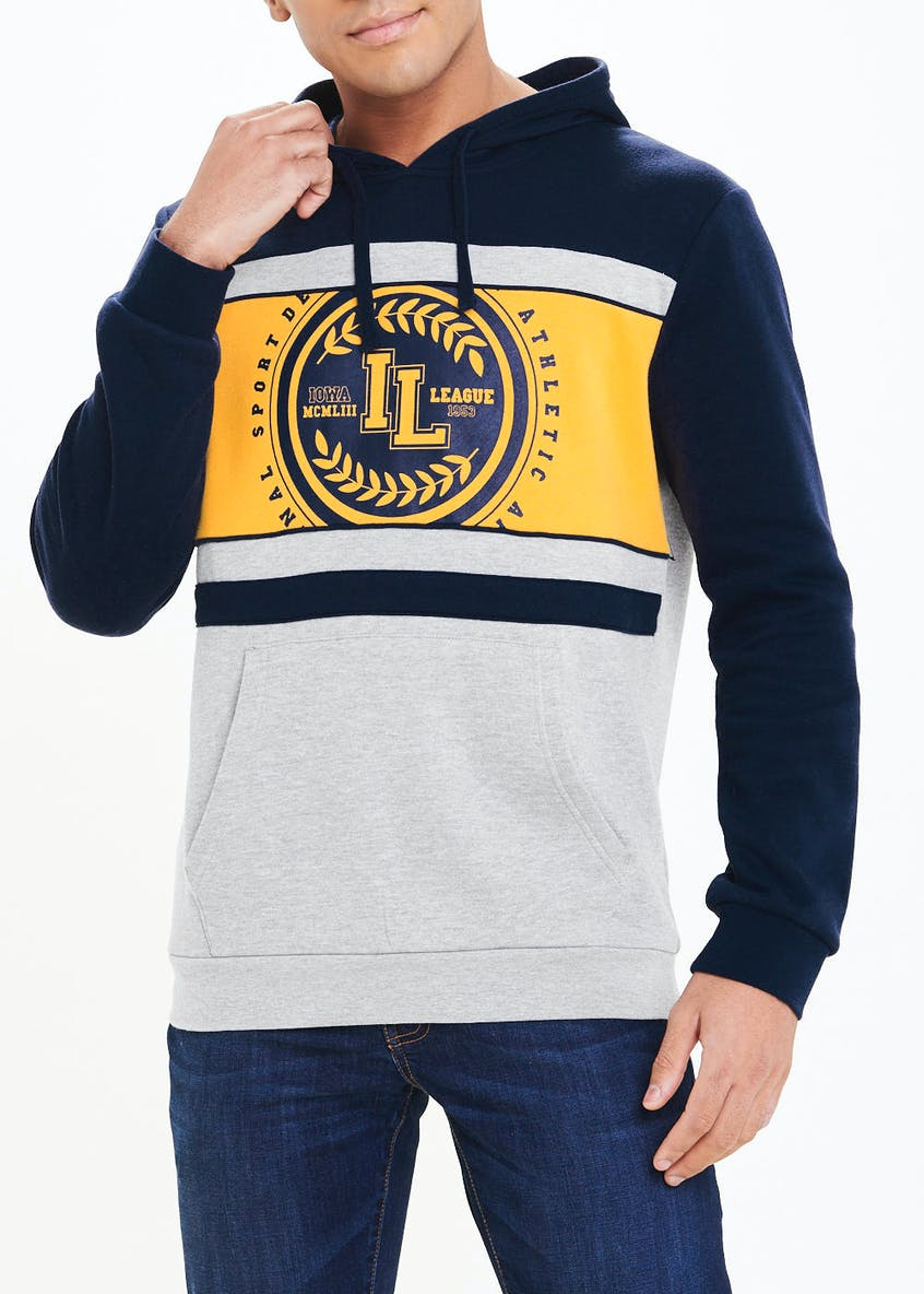 Ivy League Print Cut And Sew Hoodie