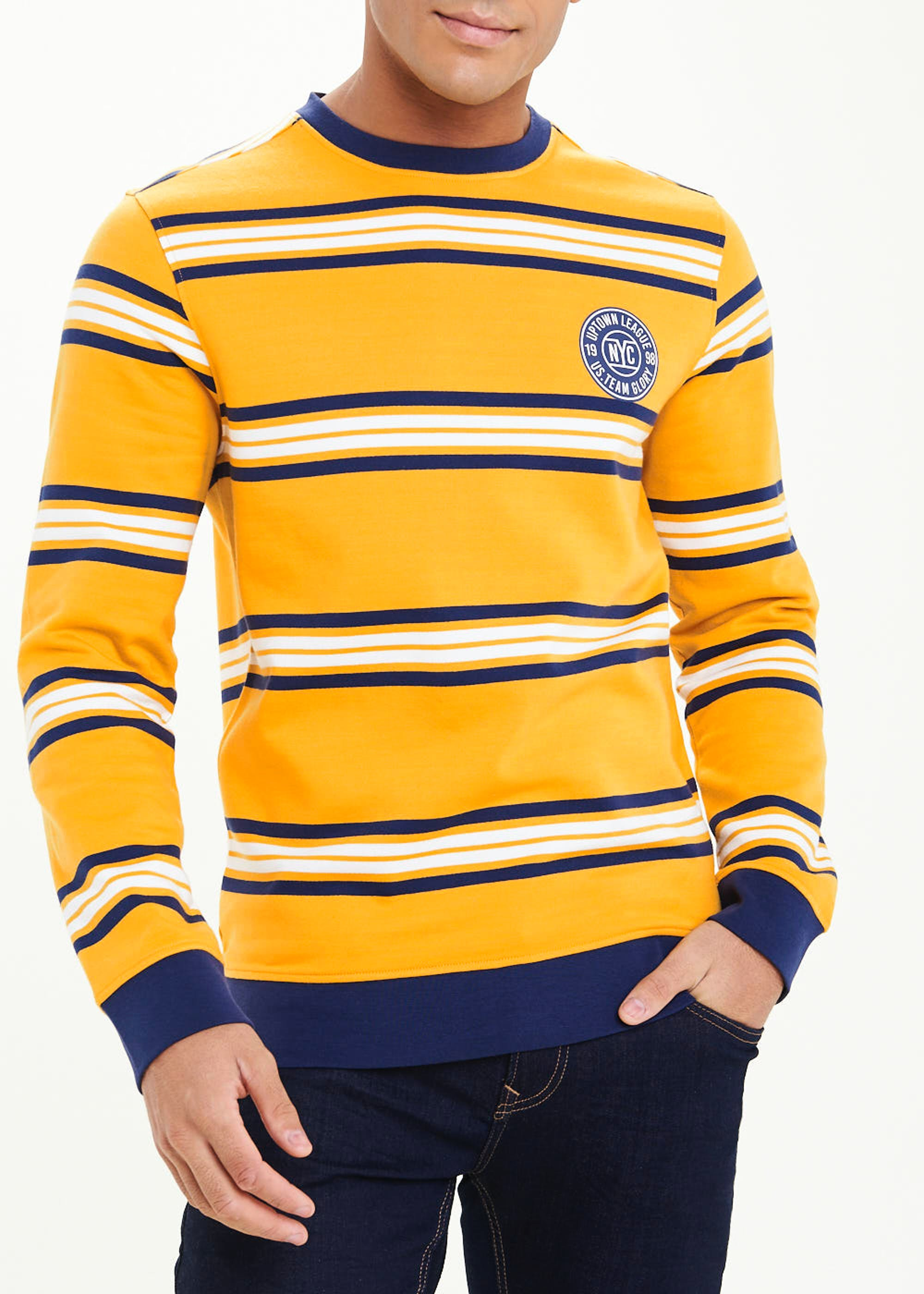 Striped Sweatshirt Yellow lmTvUP