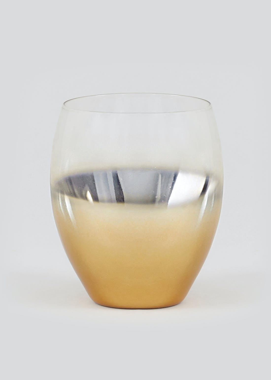 Metallic Ombre Tumbler Glass (11cm x 8cm)