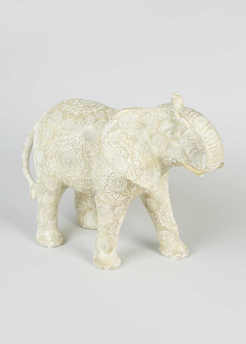 Resin Elephant Ornament (30cm x 25cm x 13cm)