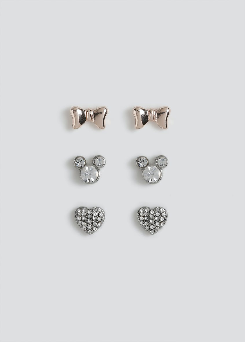 3 Pack Disney Mickey Mouse Bow Earrings