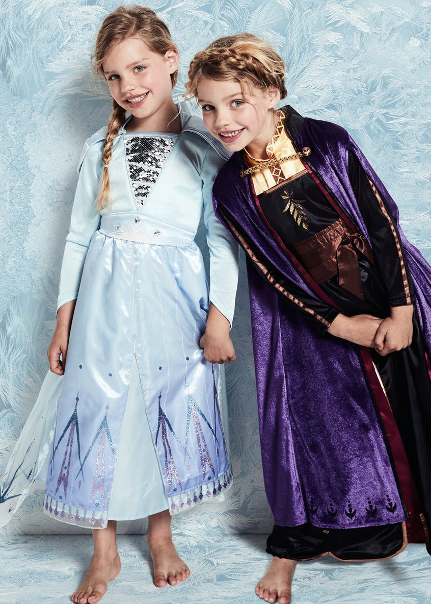 Kids Disney Frozen 2 Elsa Fancy Dress Costume (3-9yrs)