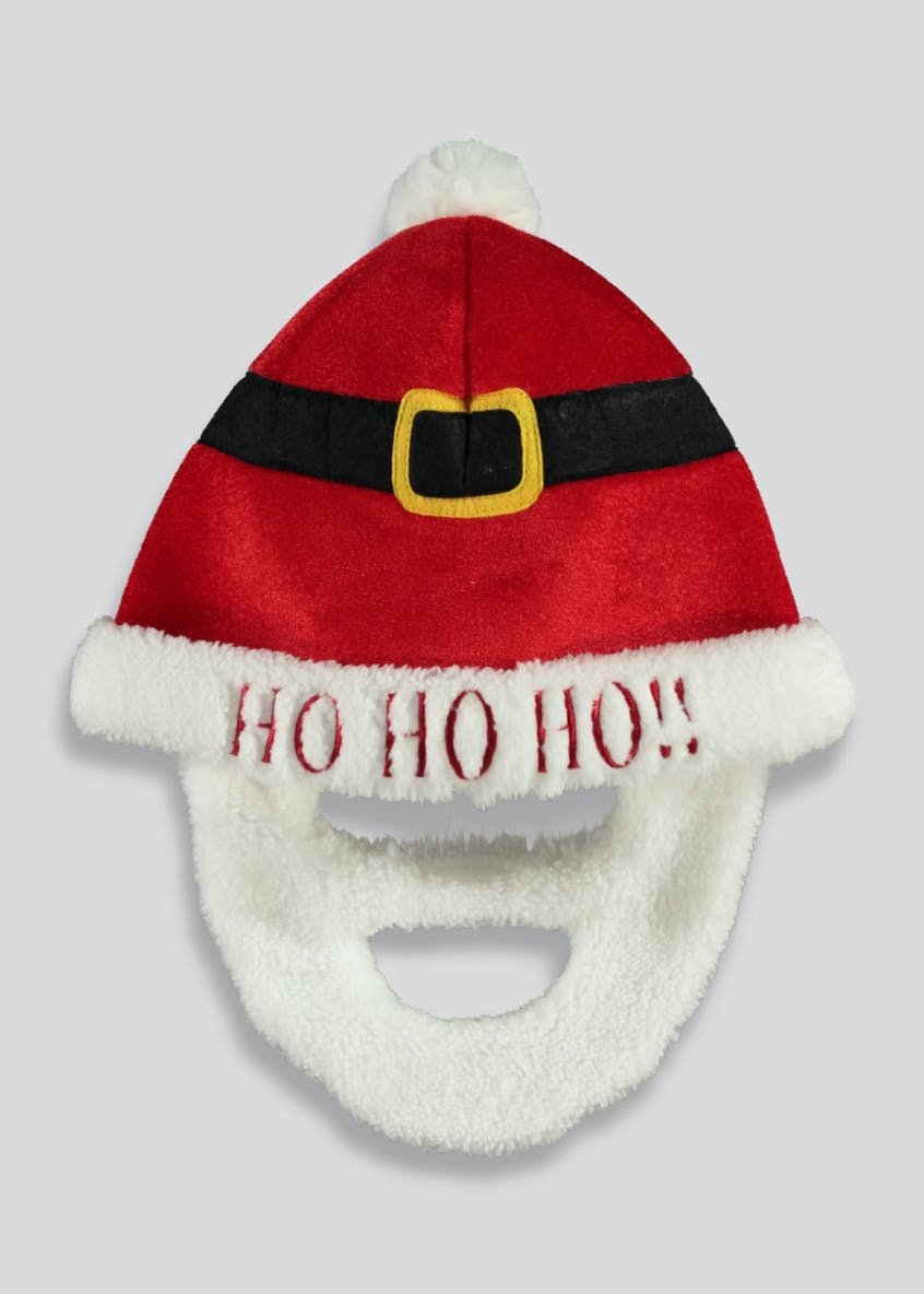 Christmas Santa Beard Hat