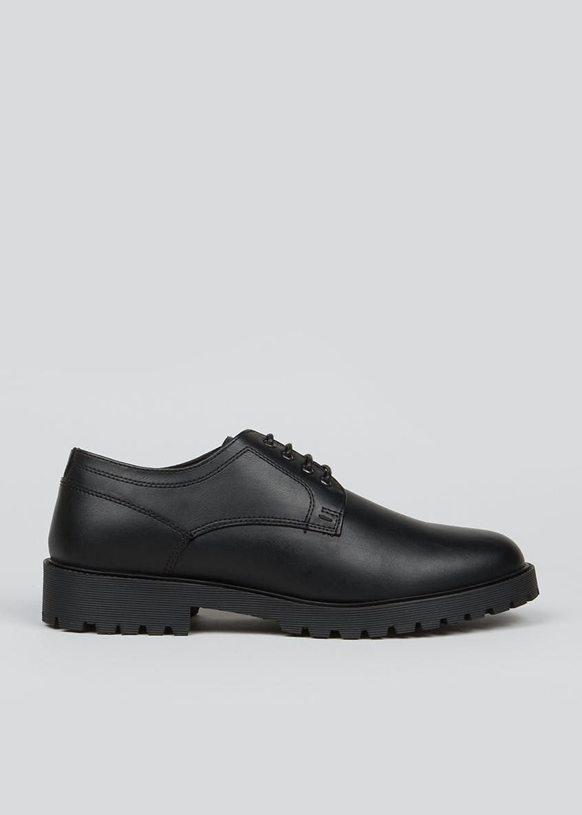 Black Bartock Lace Up Shoes