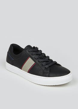 Black Cupsole Lace Up Trainers