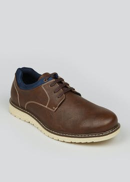 Wide Fit Brown Lace Up Shoes