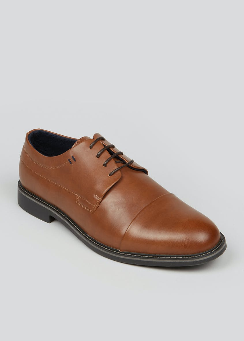 Wide Fit Tan Gibson Brogues