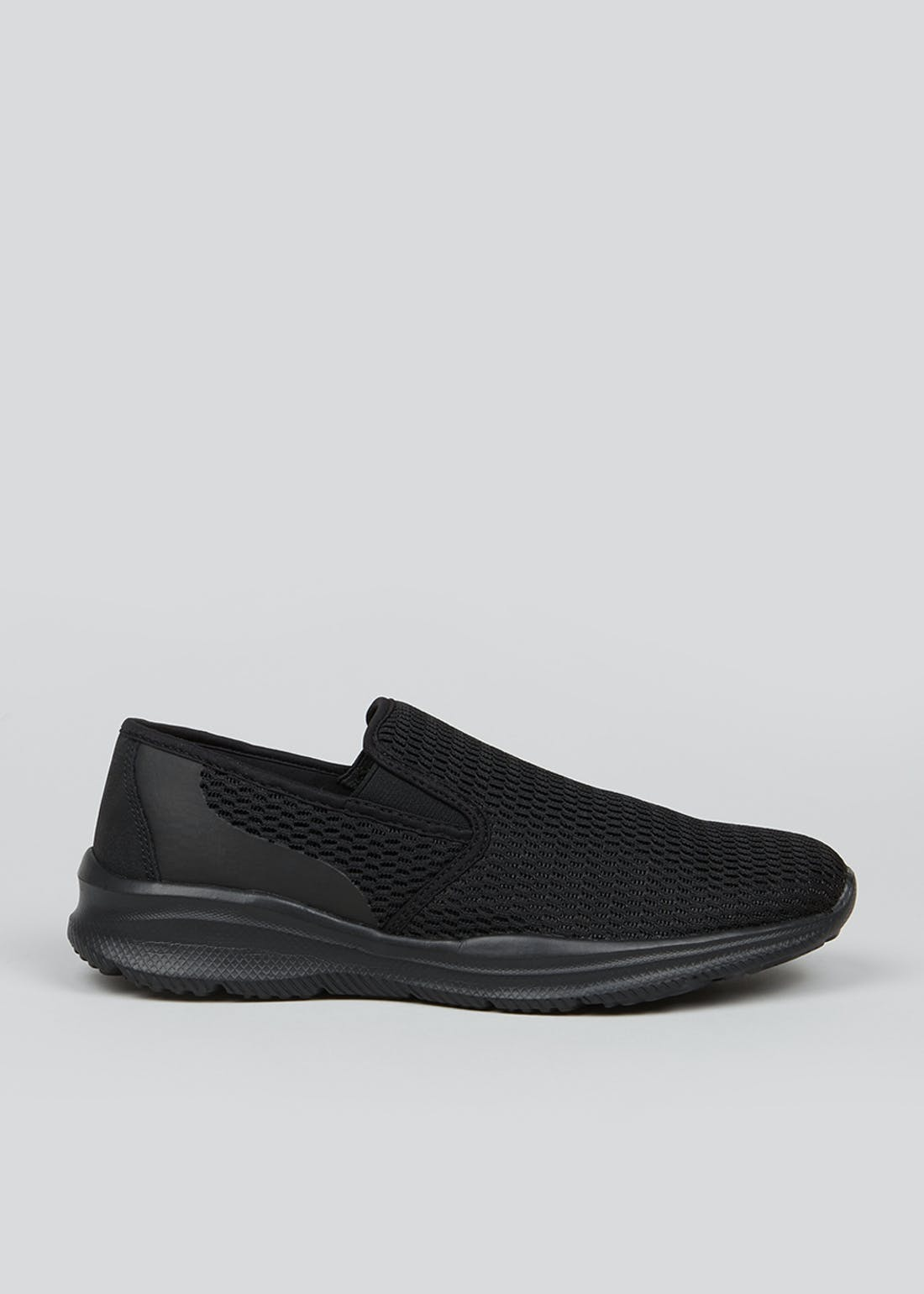 Soleflex Black Slip On Pumps