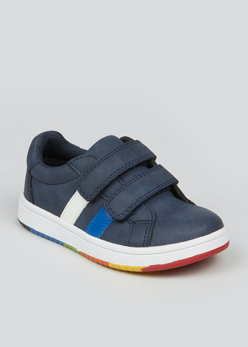 Boys Navy Riptape Strap Trainers (Younger 4-12)