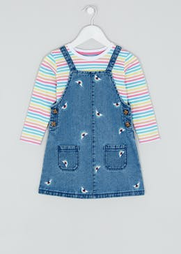 Girls 2 Piece Pinafore & T-Shirt Set (9mths-6yrs)