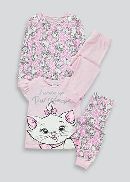 Girls Marie 2 Pack Pyjamas (9mths-6yrs)