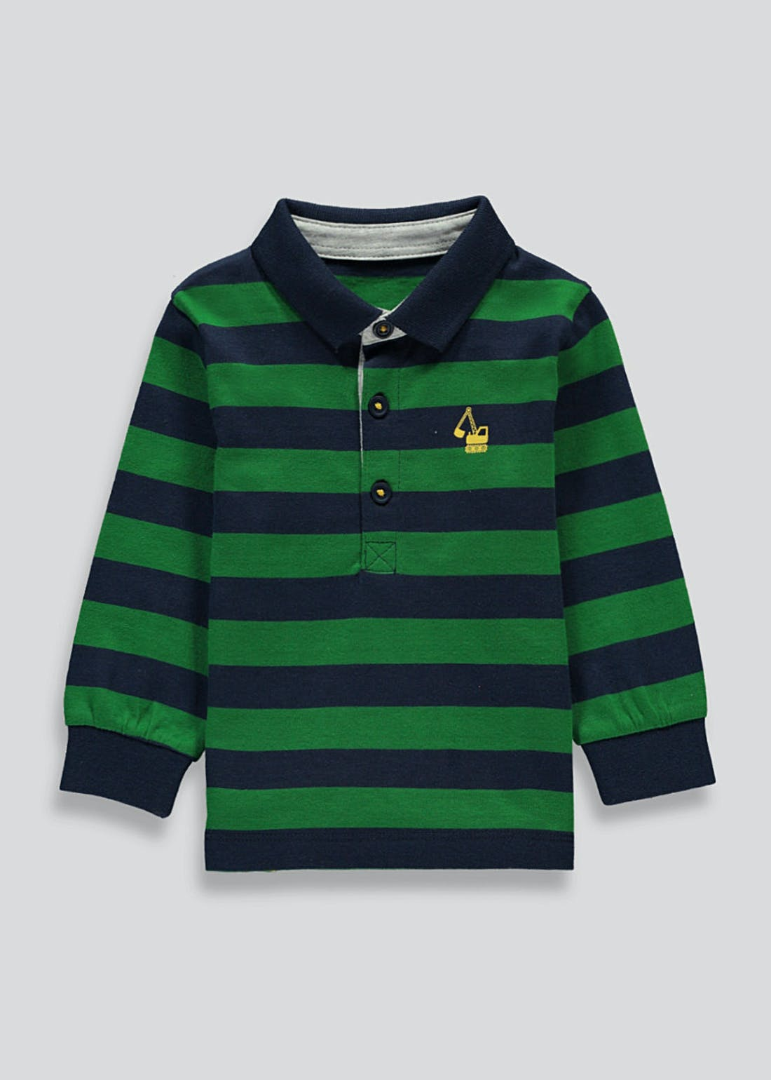 Boys Long Sleeve Stripe Polo Shirt (9mths-6yrs)