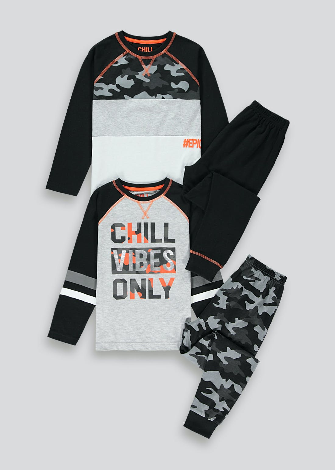Boys 2 Pack Chill Vibes Pyjamas (4-13yrs)