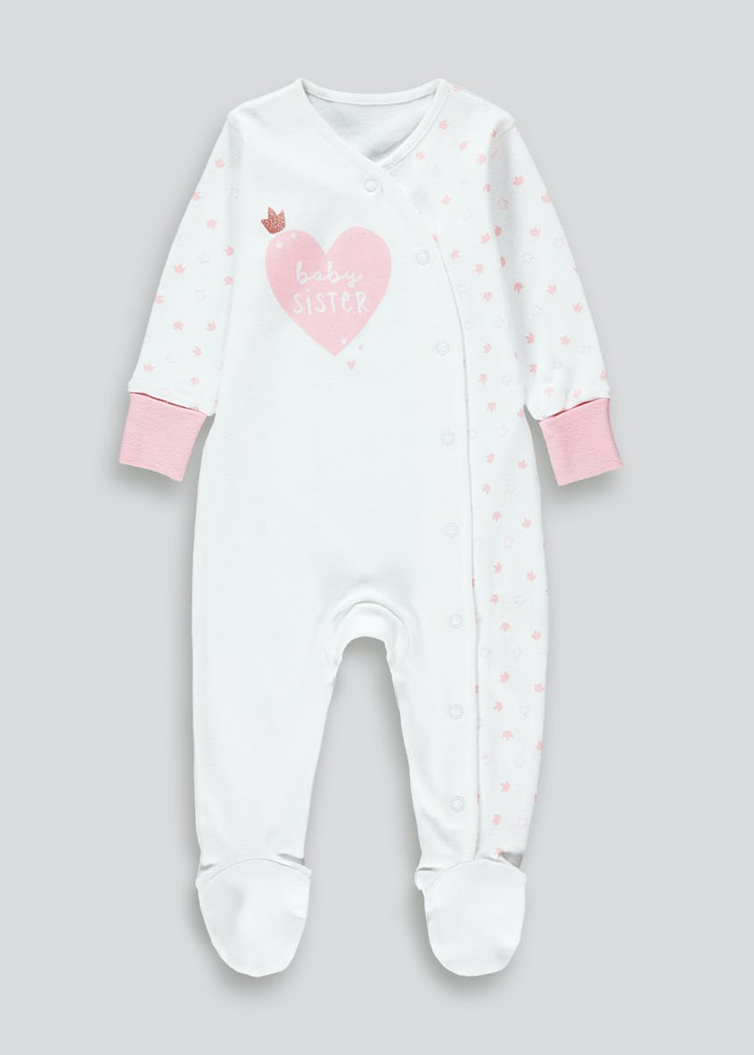 Girls Baby Sister Baby Grow (Tiny Baby-9mths)
