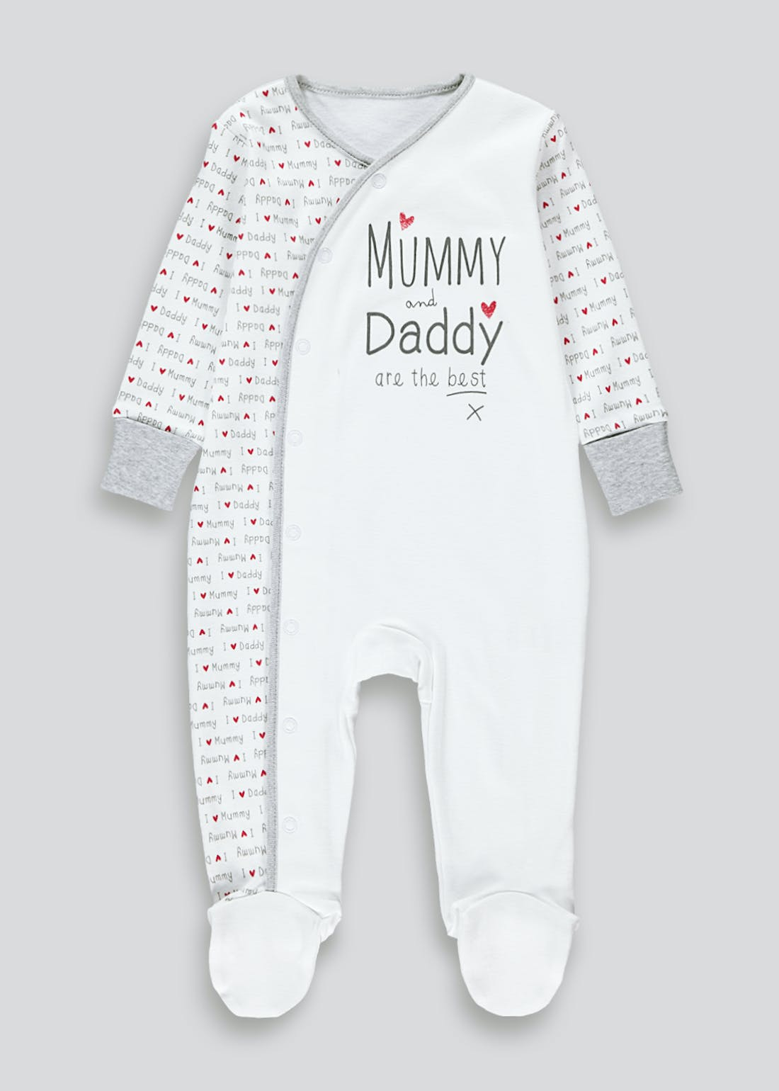 Unisex Mummy & Daddy Baby Grow (Tiny Baby-12mths)