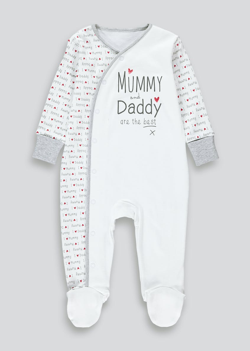 Unisex Mummy & Daddy Are The Best Baby Grow (Tiny Baby-12mths)