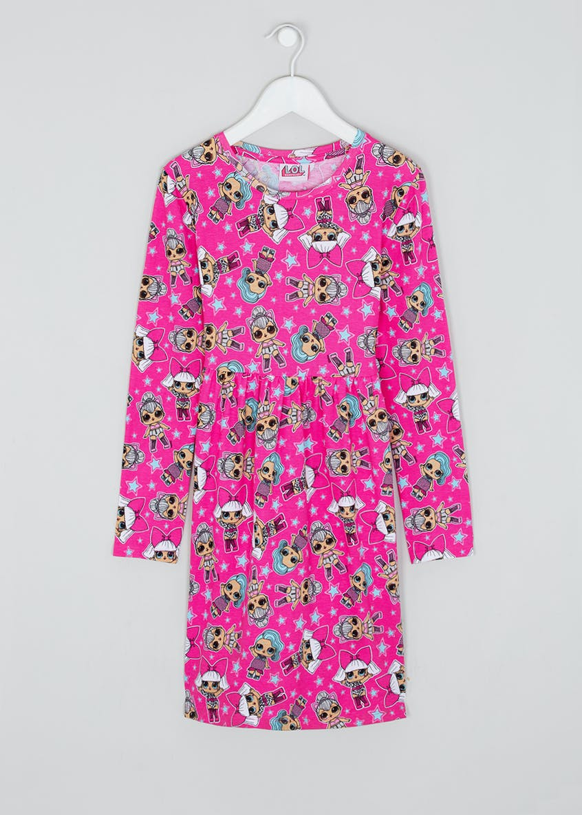 Girls L.O.L. Surprise Long Sleeve Dress (4-11yrs)