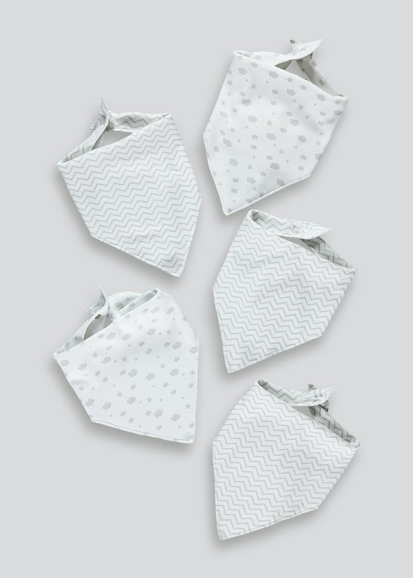 5 Pack Bandana Bibs (One Size)