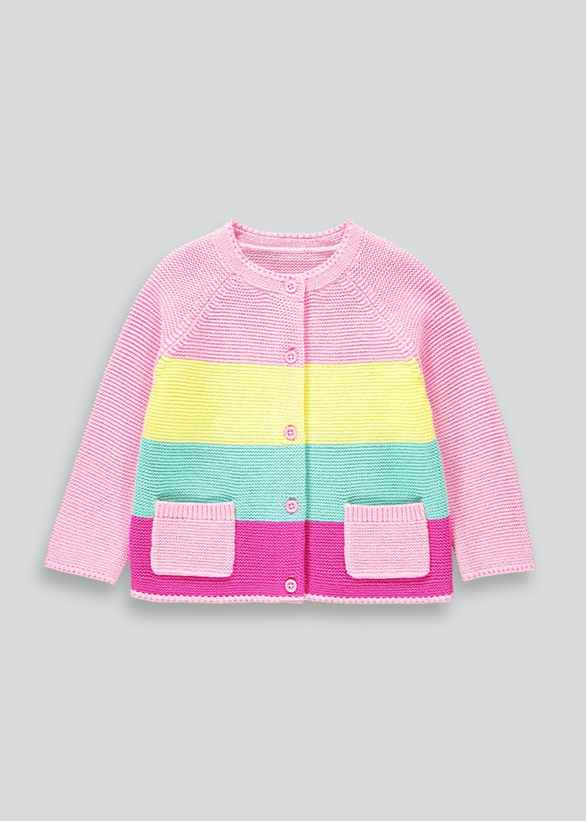 Girls Rainbow Stripe Cardigan (9mths-6yrs)