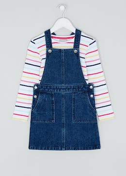 Girls 2 Piece Pinafore & T-Shirt Set (4-13yrs)