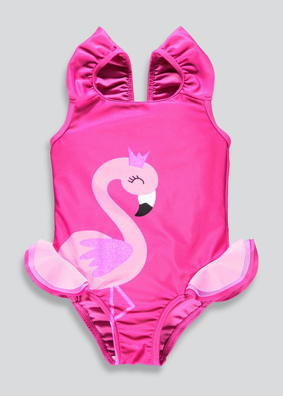 Girls Flamingo Swimming Costume (3mths-6yrs)