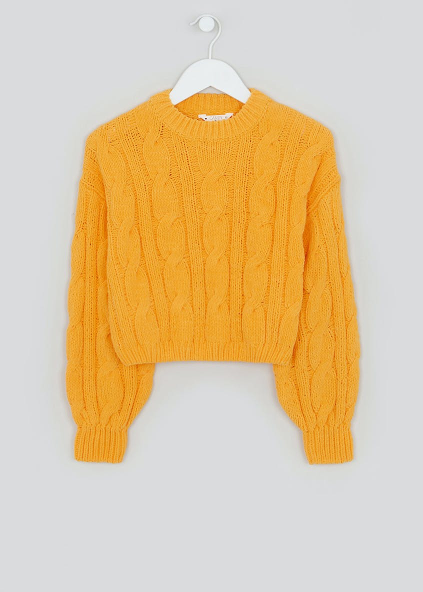 Girls Candy Couture Chenille Cropped Jumper (9-16yrs)