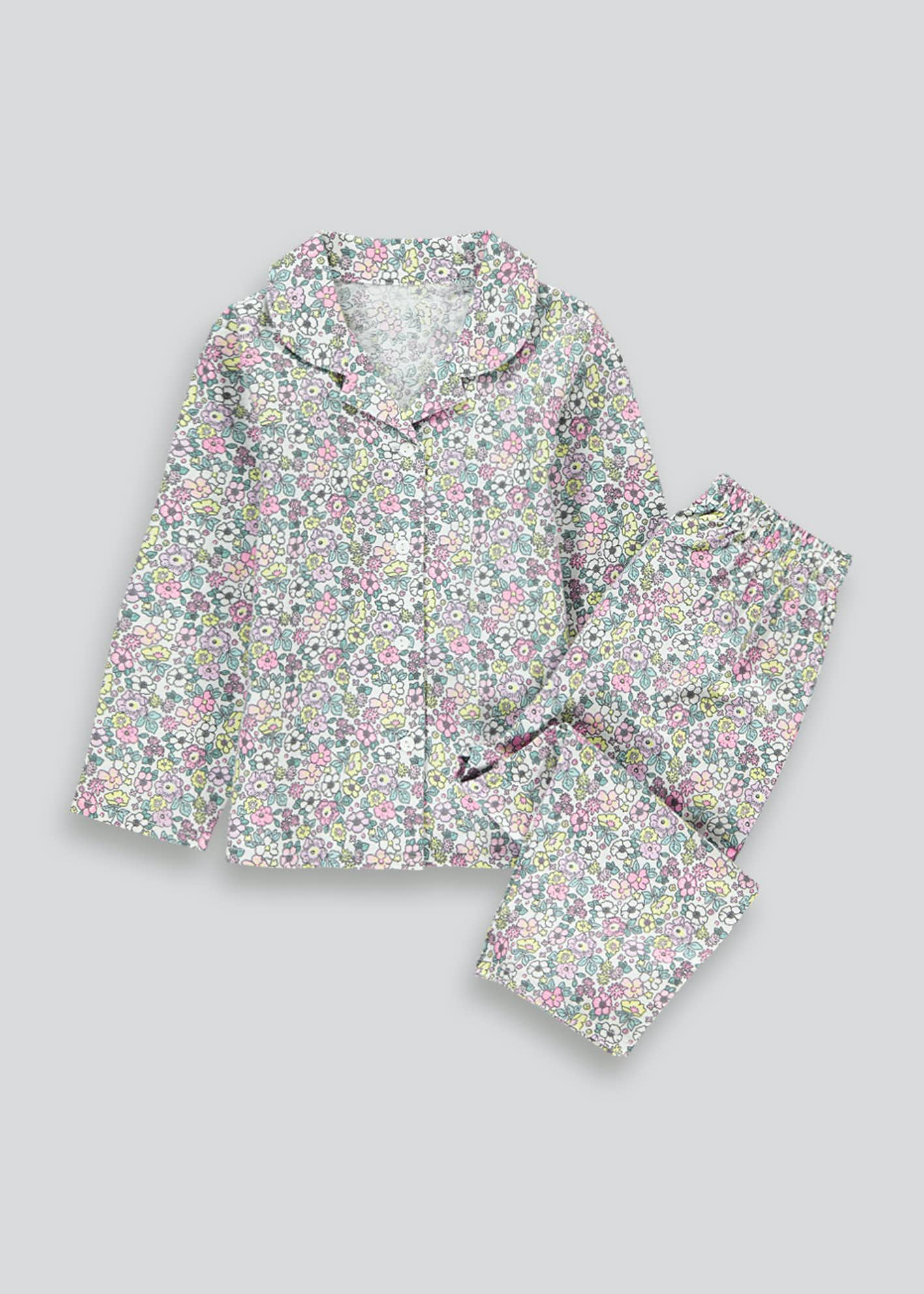 Girls Floral Print Pyjama Set (9mths-5yrs)