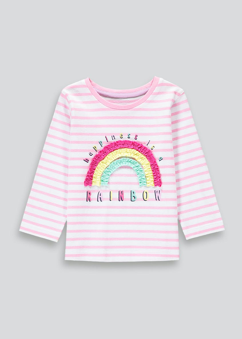 Girls Happiness Is A Rainbow T-Shirt (9mths-6yrs)