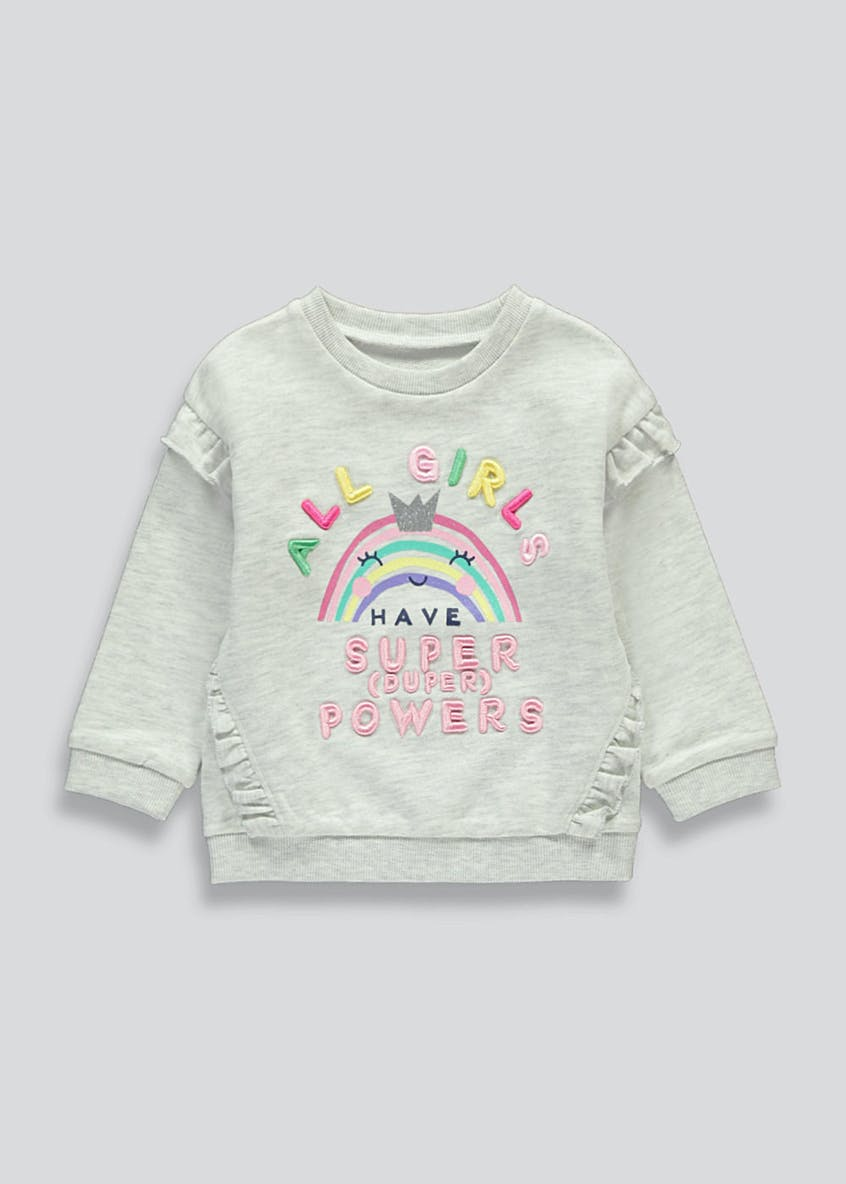 Girls Super Powers Sweatshirt (9mths-6yrs)