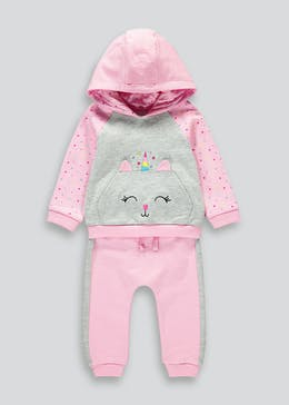 Girls Unicorn Cat Jogging Set (9mths-6yrs)