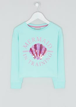 Girls Mermaid In Training Sweatshirt (4-13yrs)