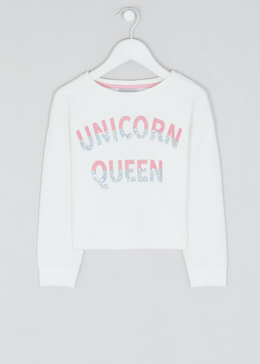 Girls Unicorn Queen Sweatshirt (4-13yrs)