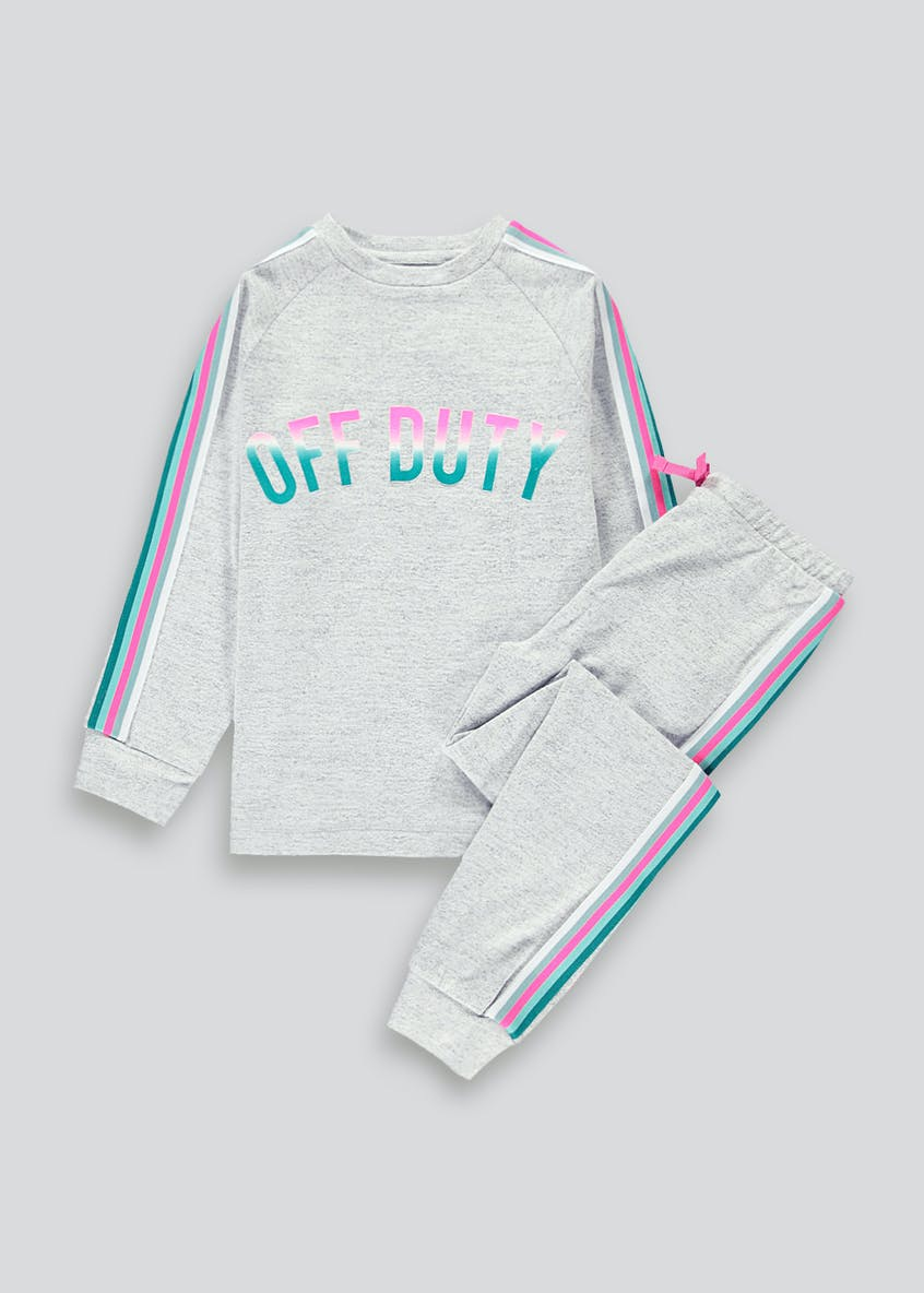 Girls Mini Me Off Duty Pyjama Set (4-13yrs)