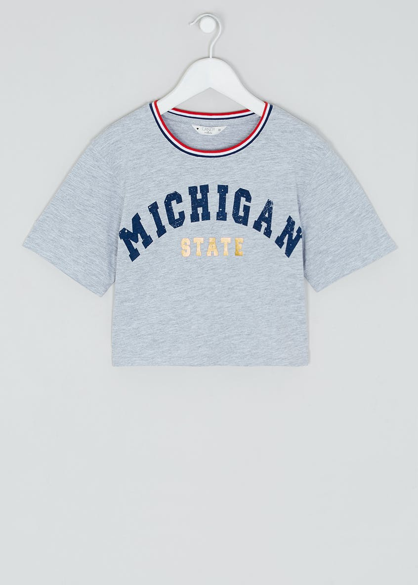 Girls Candy Couture Michigan Cropped T-Shirt (9-16yrs)