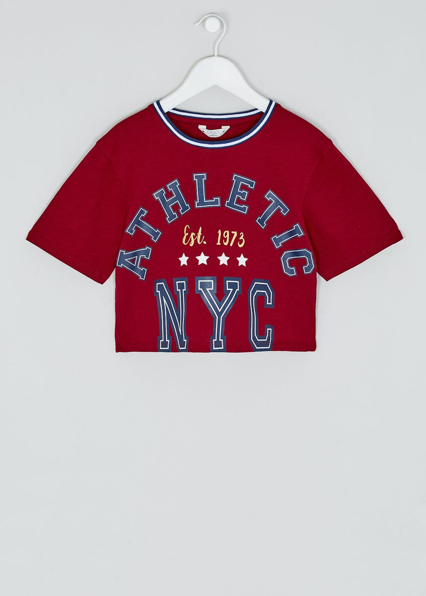 Girls Candy Couture Cropped NYC T-Shirt (9-16yrs)