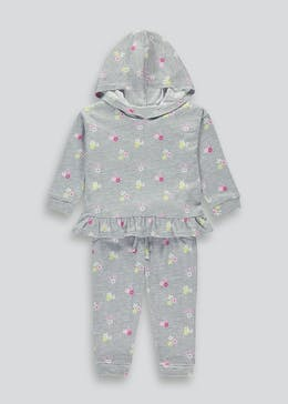 Girls Floral Hoodie & Jogging Bottoms Set (9mths-6yrs)