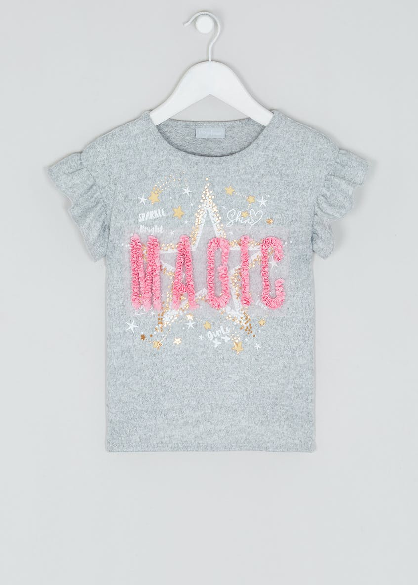 Girls 3D Magic Slogan T-Shirt (4-13yrs)
