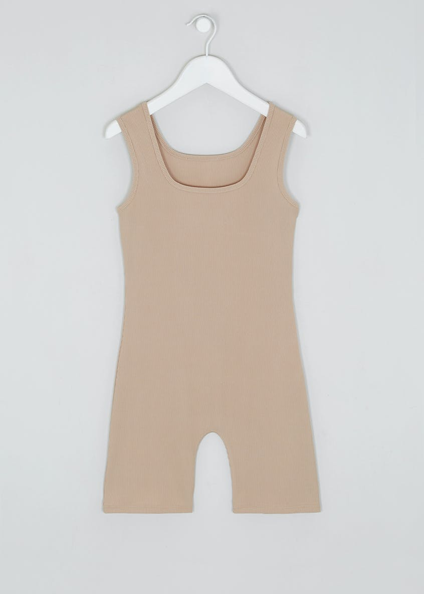 Girls Candy Couture X Ribbed Sleeveless Bodysuit (9-16yrs)