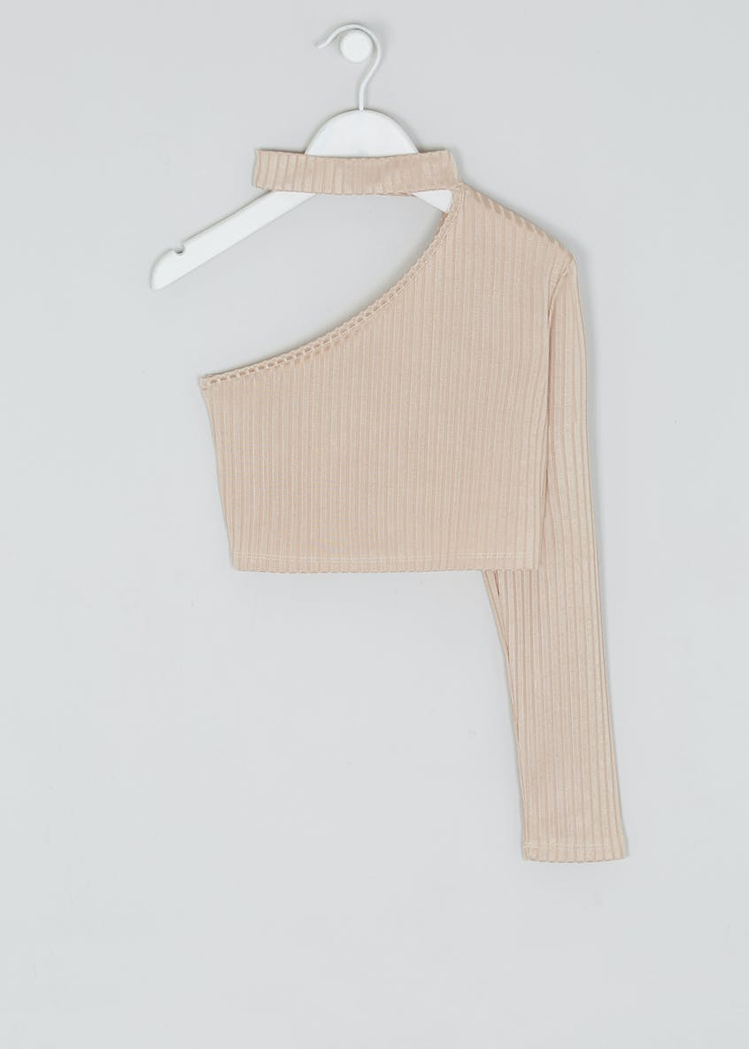 Girls Candy Couture X One Shoulder Top (9-16yrs)