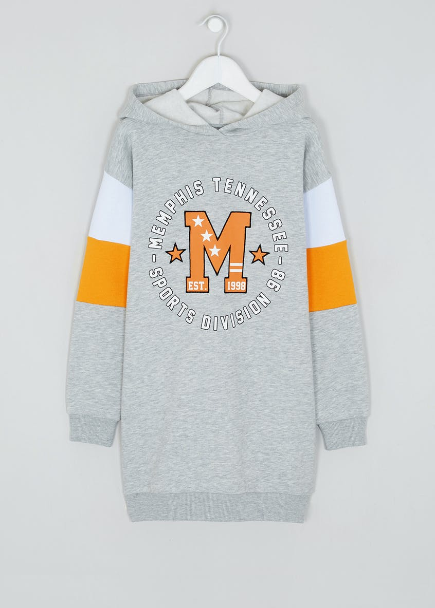 Girls Candy Couture Grey Long Sleeve Sweatshirt Dress (9-16yrs)