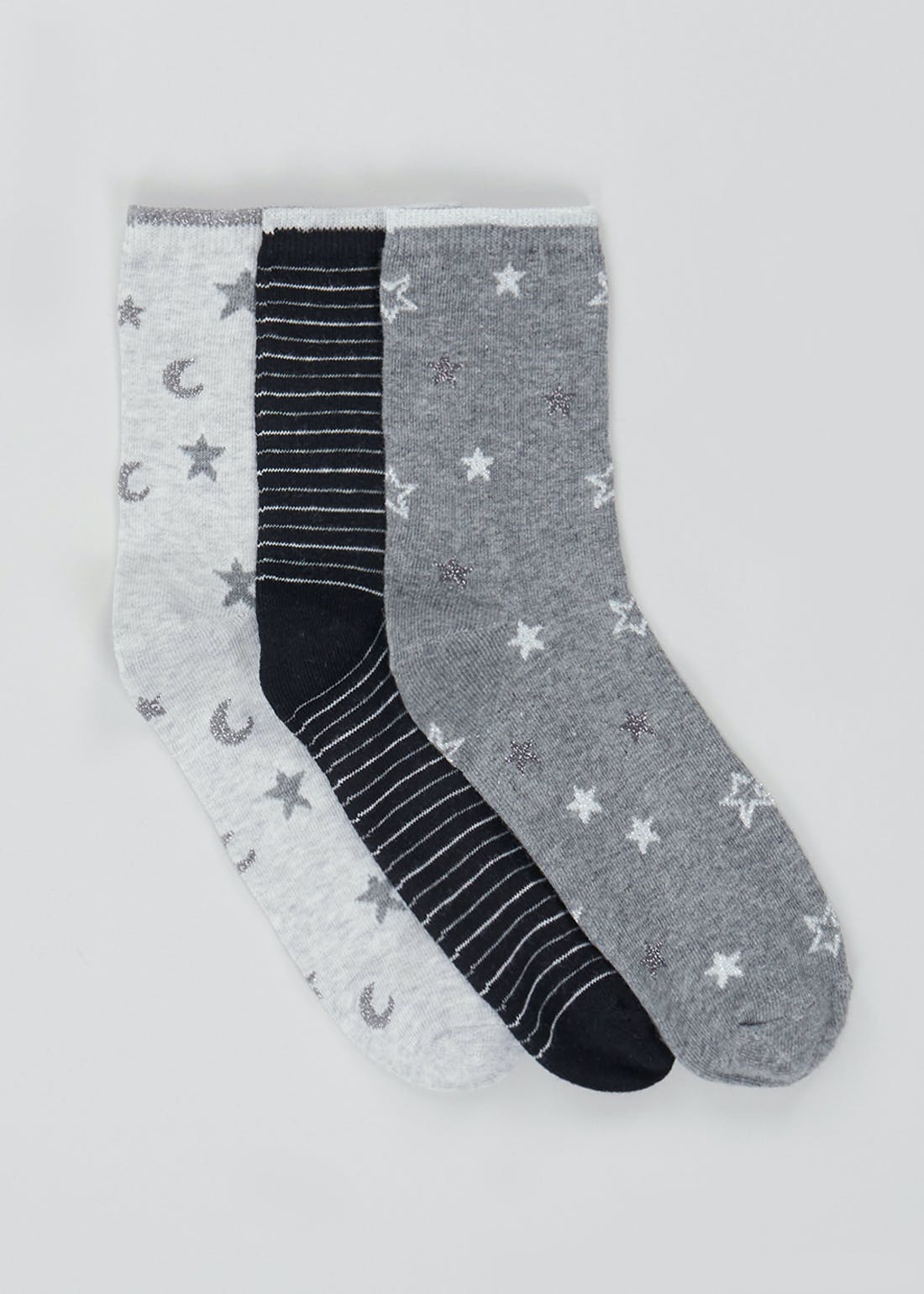 3 Pack Stars & Stripes Socks