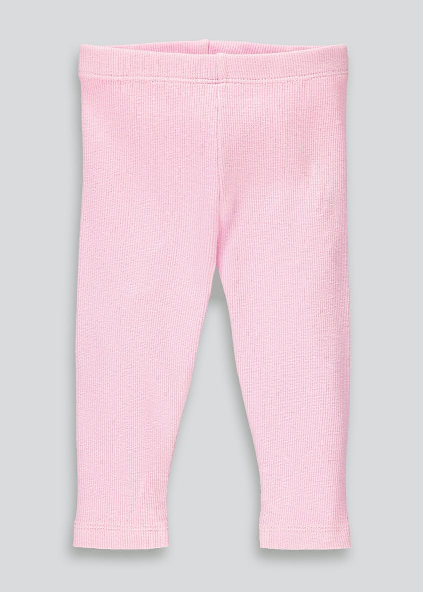 Girls Ribbed Leggings (Tiny Baby-23mths)
