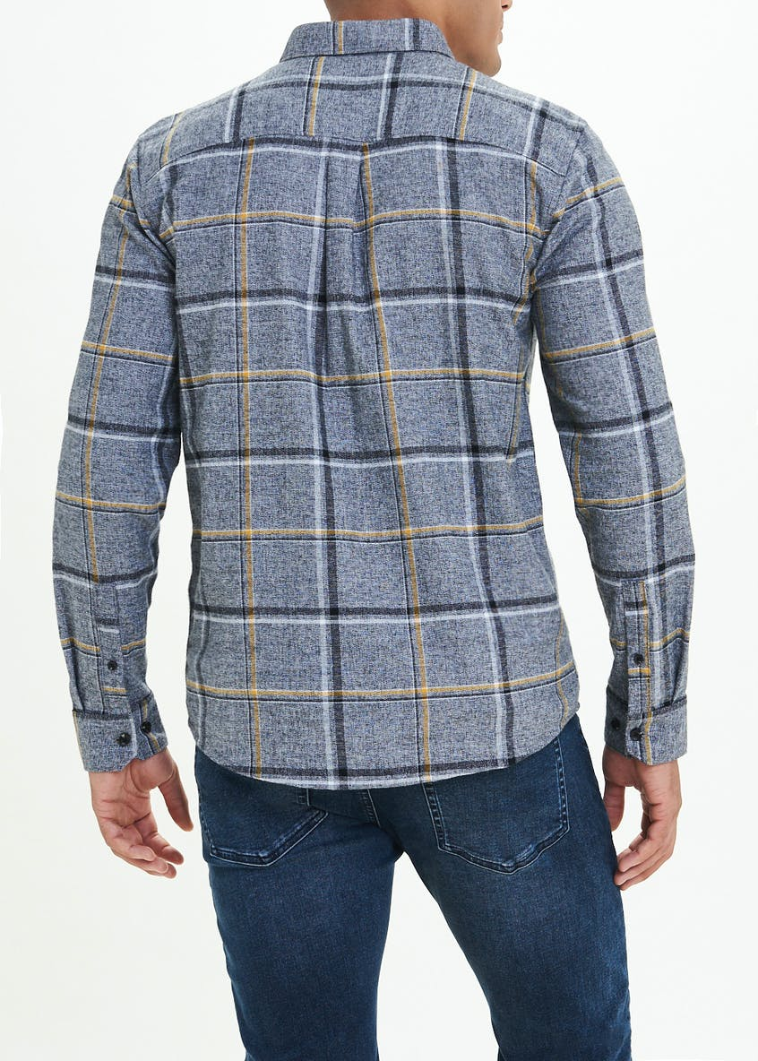 Big & Tall Brushed Check Long Sleeve Shirt